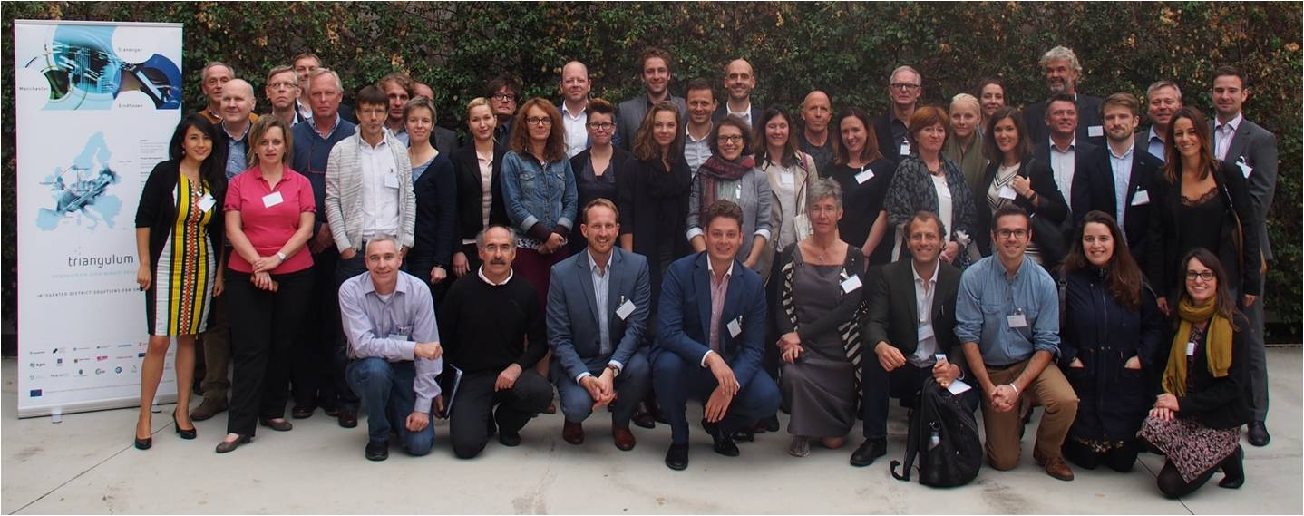 Entitats participants en el projecte Triangulum a Sabadell l'11 d'octubre de 2016